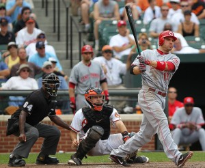 Cincinnati Reds first baseman Joey Votto (19)
